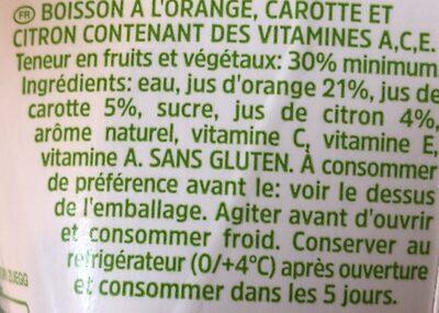 Ace fonte di vitamina C - Ingrediënten