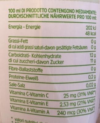 Ace fonte di vitamina C - Voedigswaarden