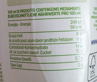 Zuegg Skipper Pesca, Polposo Di Frutta Italiana - Informations nutritionnelles - fr