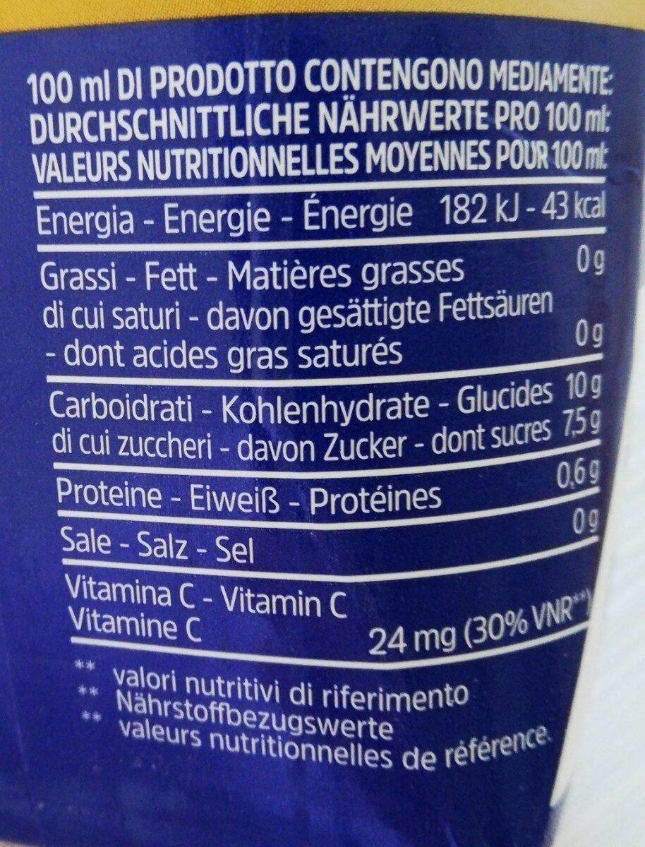 Skipper Succo di arancia - Información nutricional - it