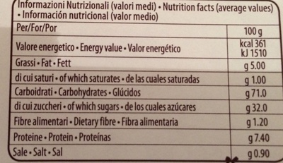 Pan di Spagna 3 basi per torta - Nutrition facts - it