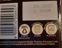 Grisbi Wild pregiata vaniglia Bourbon & dark choco - Recycling instructions and/or packaging information - it