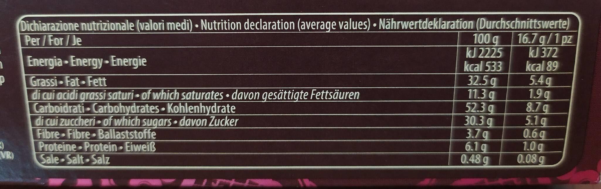Grisbì Passion - Informazioni nutrizionali - it
