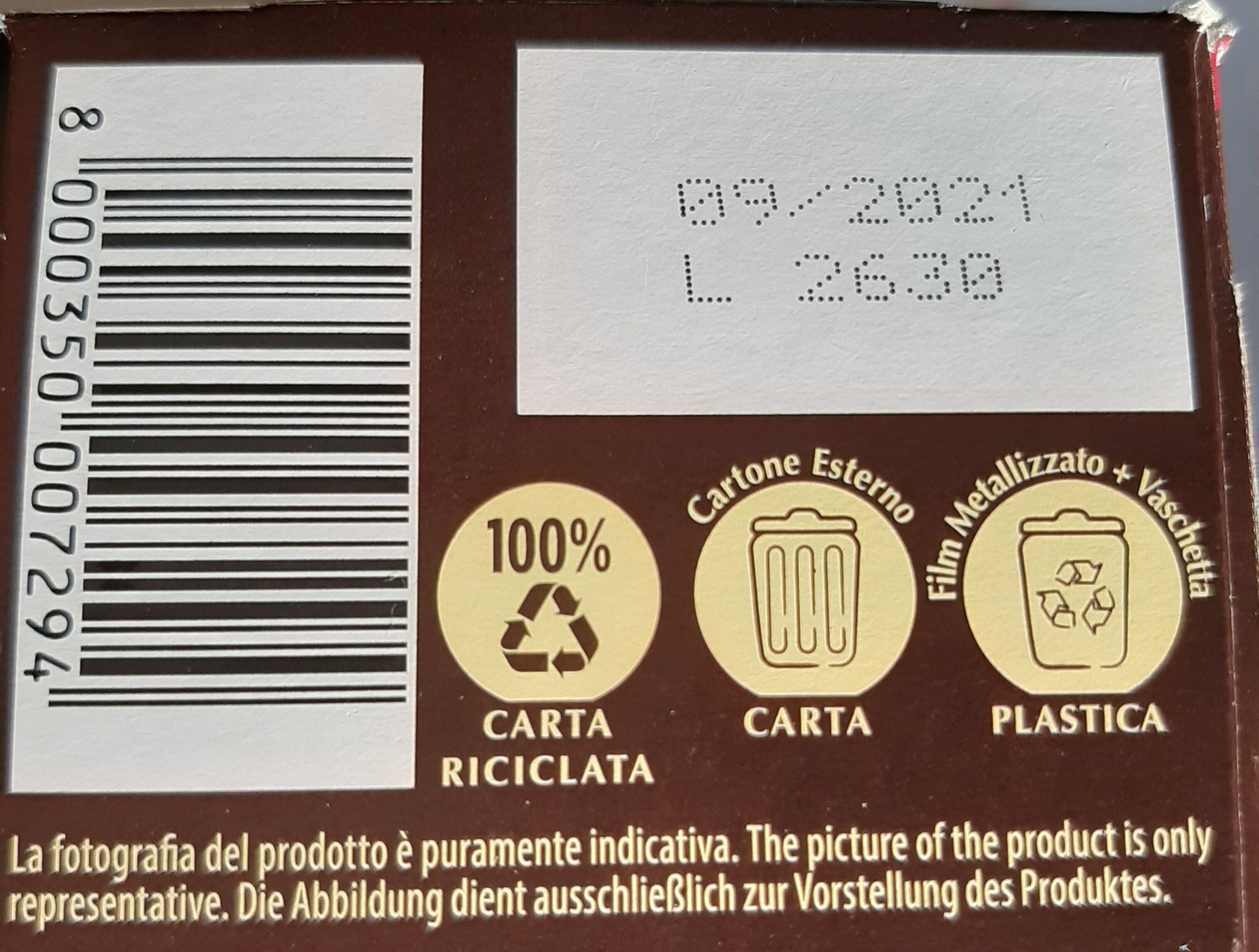 Grisbì Passion - Istruzioni per il riciclaggio e/o informazioni sull'imballaggio - it