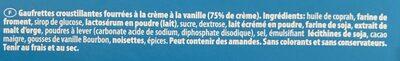 Loacker Vanille - Ingrédients - fr