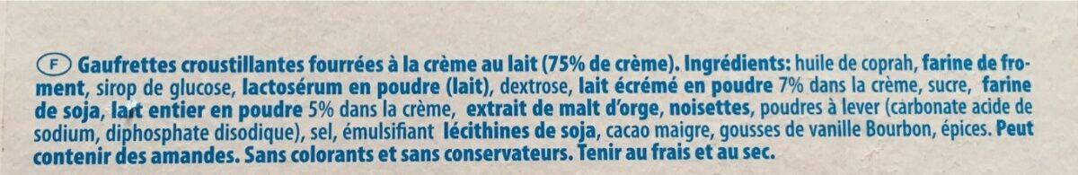 Loacker Wafers Classic Milk GR 45X5 - Ingrédients - fr