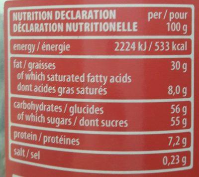 Loacker Napolitaner Streichcreme - Informations nutritionnelles - fr
