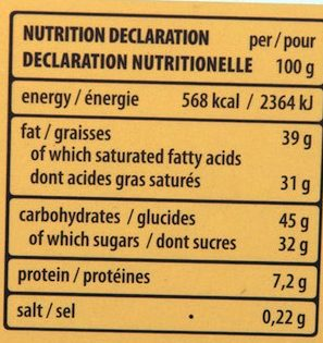 Patisserie Coconut - Nutrition facts - fr