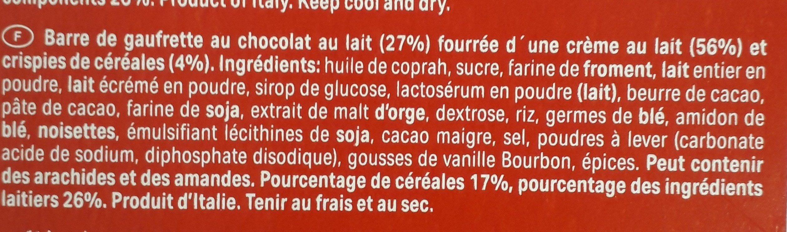 Choco & Milk Cereals - Ingredients - fr