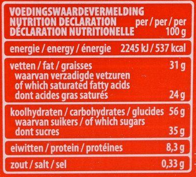 Choco & Milk Cereals - Nutrition facts - fr