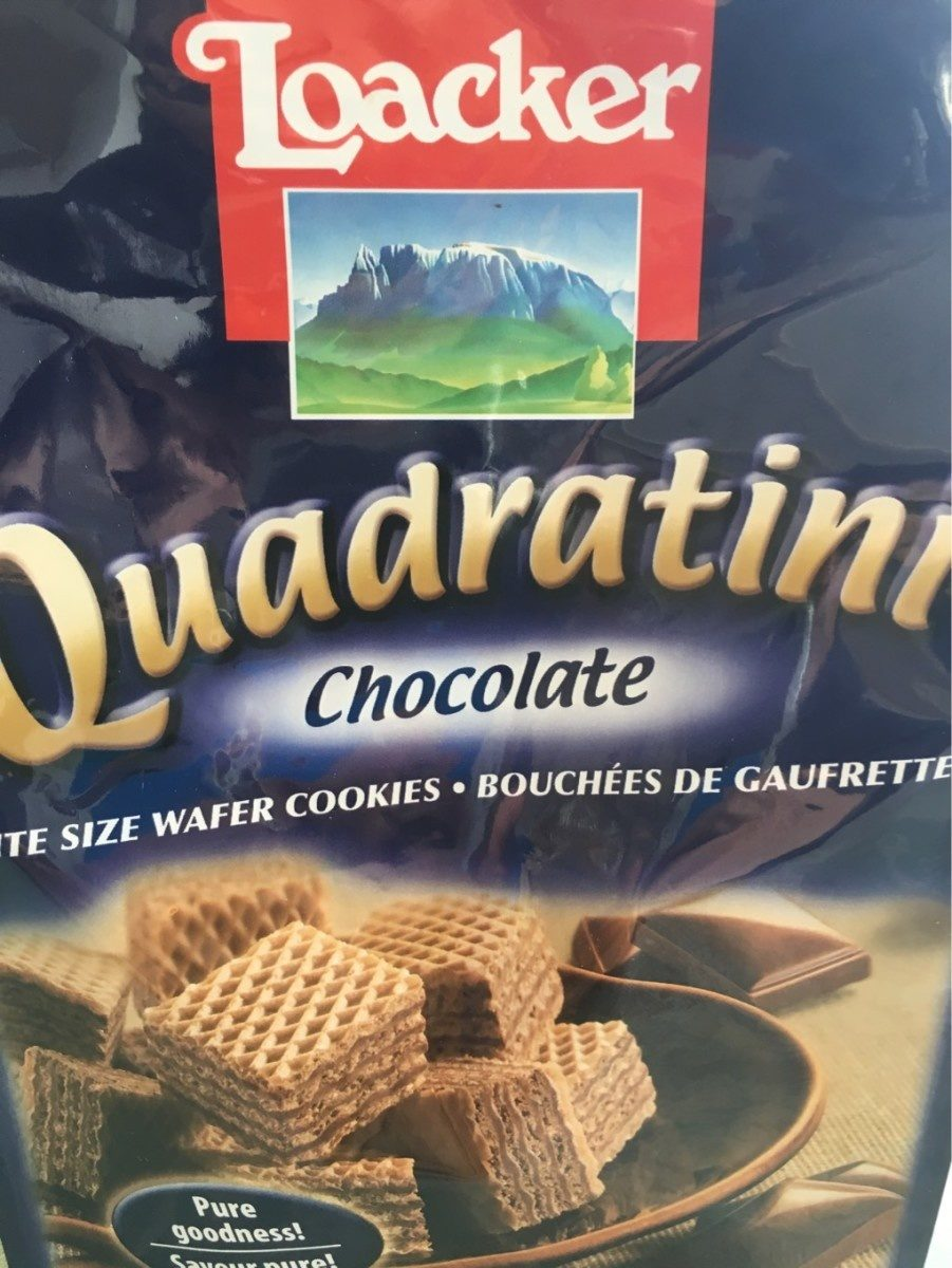 Loacker Wafers Quadratini Chocolate - Produit - fr