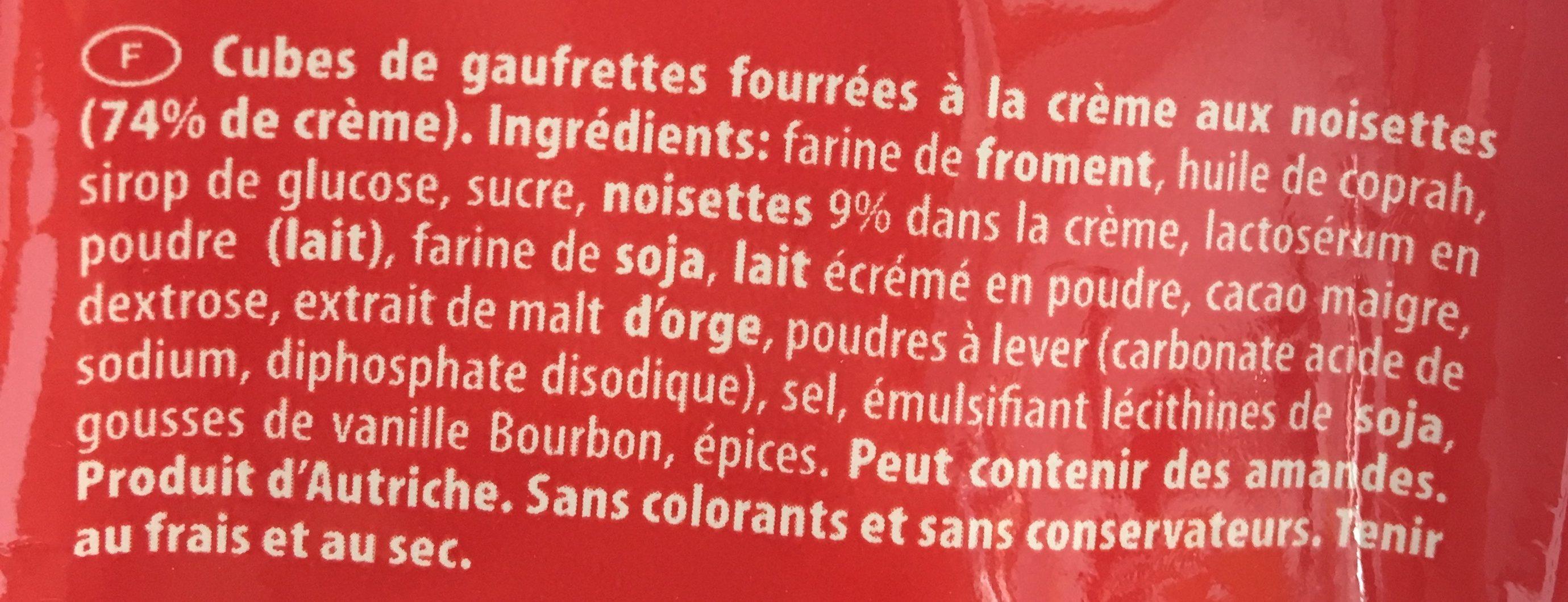 Quadratini - Ingrédients - fr