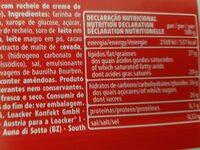 Napolitaner - Valori nutrizionali - de