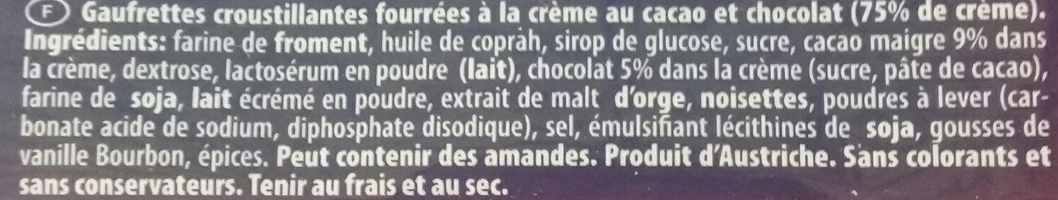 Classic Cremkakao - Ingredients - fr