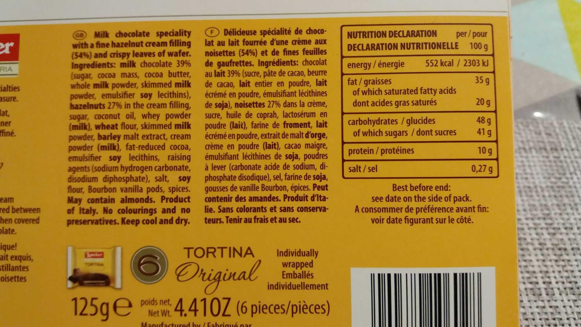 6 Tortina Original - Product - fr