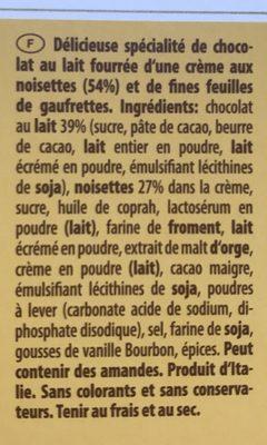 6 Tortina Original - Ingredients - fr