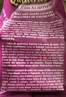 Loacker Blackcurrant Wafer - Ingredients