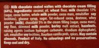 Loacker Gardena Chocolate Wafers - Ingrédients - fr