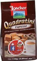 Loacker Quadratini Espresso Wafer Cookies - Product - en