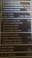 Loacker Quadratini Espresso Wafer Cookies - Nutrition facts - en