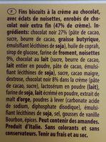 Pâtisserie Dark Hazelnut - Zutaten - fr