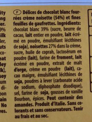 Tortina white - Ingrédients - fr