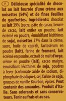 Gran Pasticceria Tortina Original - Ingrédients - fr