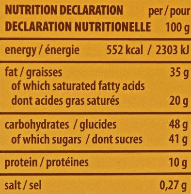Gran Pasticceria Tortina Original - Informations nutritionnelles - fr