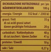 Tortina Original - Informations nutritionnelles - de
