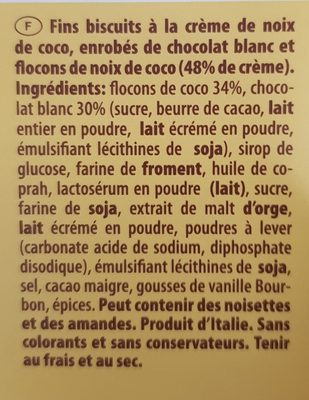 White Coconut - Ingrédients - fr