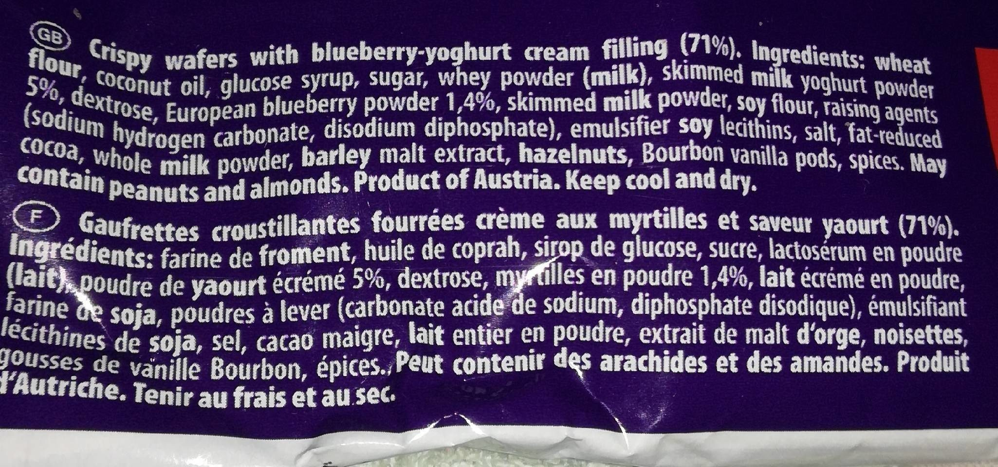 Blueberry yoghurt - Ingrédients - fr
