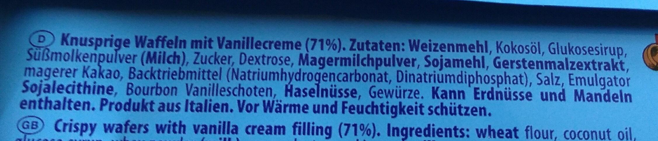 Eiswaffeln Vanille - Ingredients