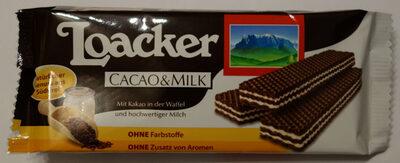 Loacker Cacao&Milk - Produit