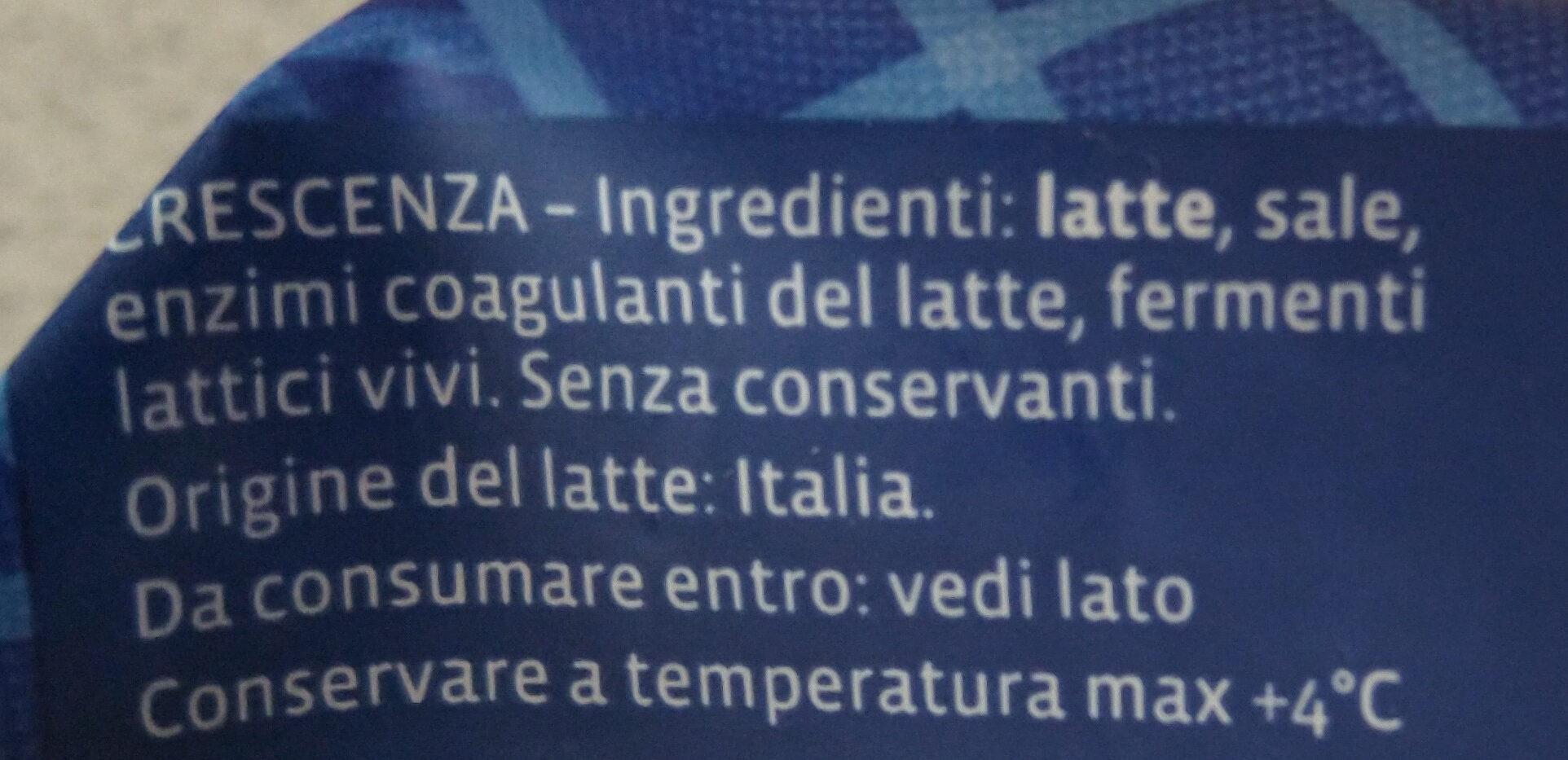 Certosino crescenza italiana - Ingrediënten - it
