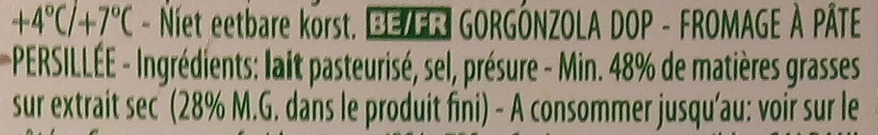 Galbani Gorgonzola D.O.P. Intenso - Ingrédients