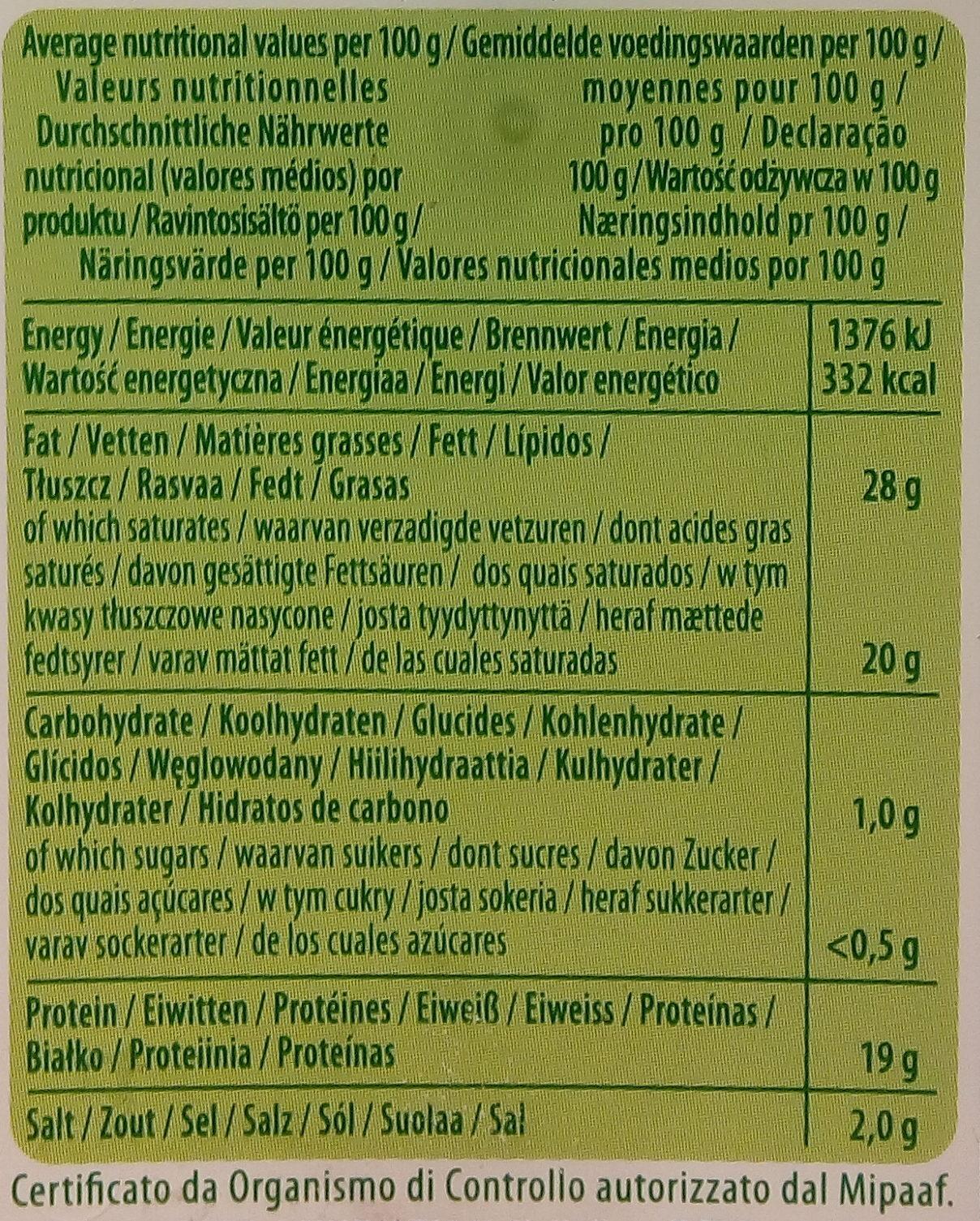 Galbani Gorgonzola D.O.P. Intenso - Informations nutritionnelles