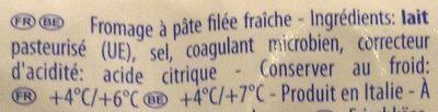 Mozzarella - Ingrediënten - fr