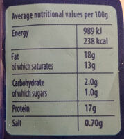 Mozzarella - Nutrition facts - en