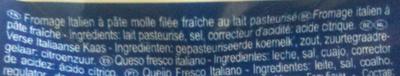 Mozzarella Maxi per Caprese (19% MG) - Ingredienti - fr