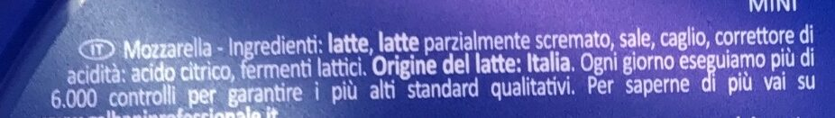 mozzarella mini - Ingrediënten - it