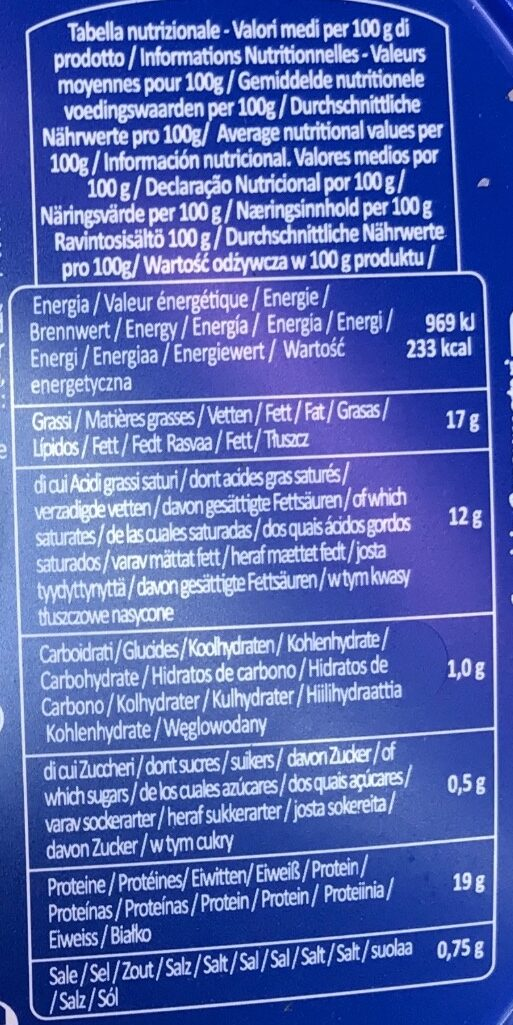 mozzarella mini - Voedingswaarden - it