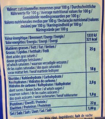 Mozzarella Cucina - Informations nutritionnelles - fr