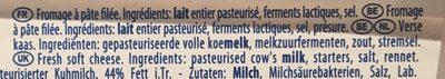 Mozarelline - Ingredientes - fr