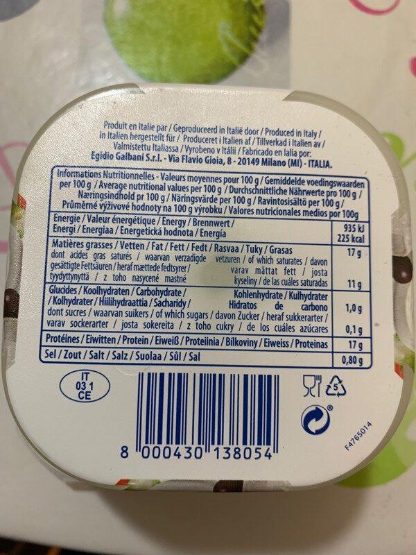 Mozarelline - Información nutricional - fr
