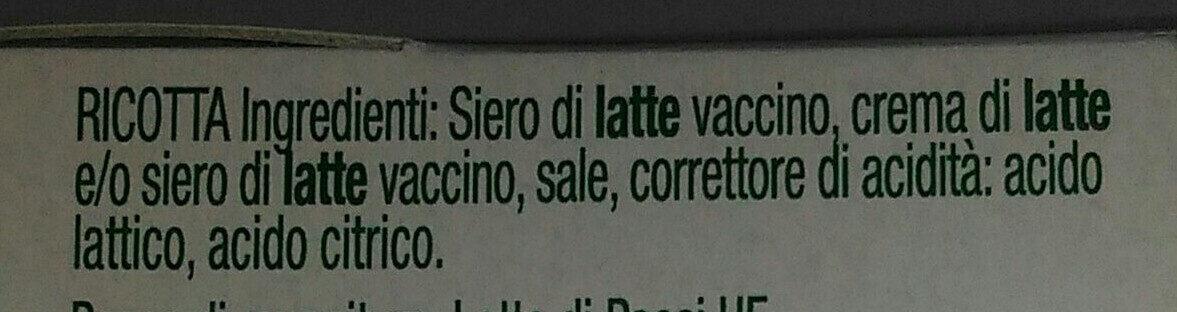 Ricotta fresca - Ingredienti - it