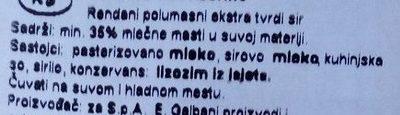 Galbani Paesano - Sastojci - sr