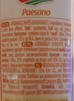 Galbani Revet Paesano - Ingrediënten