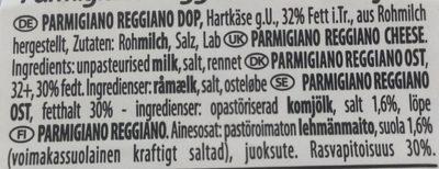 Parmigiano Reggiano - Ingrediënten - fr