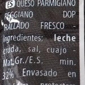 Parmigiano reggiano D.O.P. - Ingredients - es