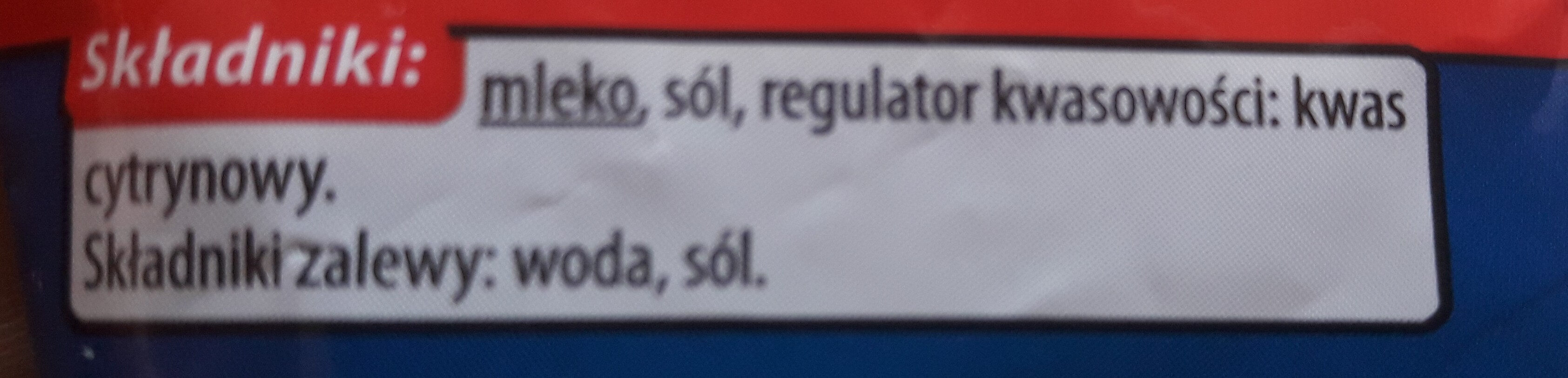 Mozzarella - Ingredients - pl